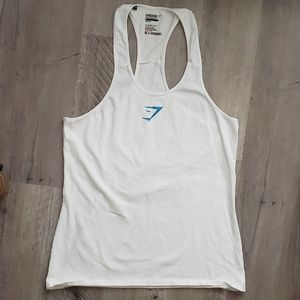 Gymshark Womens Tank Top Racerback Athletic White